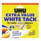UHU 129g Economy White Tack, Pack of 6 - 43527