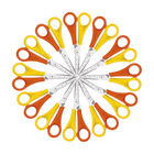 Westcott 130mm Yellow and Orange Left-handed Scissors, Pack of 12 - E-21593 00