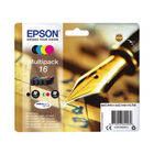 Epson 16 Series Multi Pack Ink Cartridges - Black/ Cyan/ Magenta/ Yellow