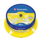 Verbatim Non-Printable 4.7GB 4x DVD+RW Discs, Pack of 25 - 43489