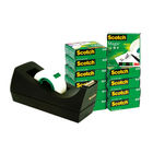 Scotch Tape - 19mm x 33m Magic Tape, Pack of 12 and Free Dispenser - 24871
