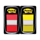 Post-it 25mm Red and Yellow Index Tabs, Pack of 100 | 680-RY2