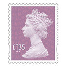 Royal Mail £1.35 Postage Stamps x 25 Pack (Self Adhesive Stamp Sheet)