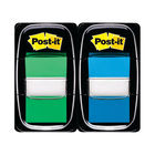 Post-it 25mm Blue and Green Index Tabs, Pack of 100 | 680-BG2