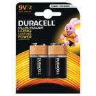 Duracell Copper and Black 9V Plus Battery, Pack of 2 - 81275459