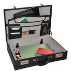 Monolith Leather Look Expandable Attaché Case - 2350