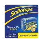 Sellotape Original Golden Tape 18mm x 25m (8 Pack)