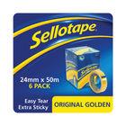 Sellotape Original Golden Tape 24mm x 50m (6 Pack)