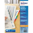 Avery Index Maker Divider, 10 Part, White - L7416-10M