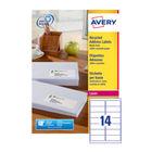 Avery White QuickPEEL Laser Address Labels 99.1x38.1mm (Pack of 1400) - AV81507