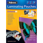 Fellowes A3 Glossy 80 Micron Laminating Pouches, Pack of 100 - 53062