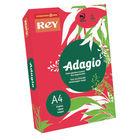 Rey Adagio Intense Red A4 Coloured Card, 160gsm - AR2116
