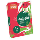 Rey Adagio Intense Red A4 Coloured Card, 160gsm - AR2116