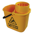 2Work 15 Litre Yellow Plastic Mop Wringer Bucket  - 102946