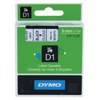 Dymo D1 Standard Label Tape Black on Clear - 43610 / S0720770