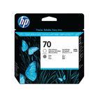 HP 70 Gloss Enhancer and Gray Printhead - C9410A