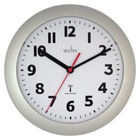 Acctim Parona Radio Controlled Plastic Wall Clock Silver 74317
