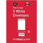 PostPak White C5 Peel and Seal Envelopes 90gsm, Pack of 250 - 9731534