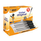 Bic Cristal Medium Black Ballpoint Pens (Pack of 100) - 896040