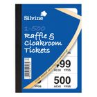 Silvine Cloakroom and Raffle Tickets 1-500 (Pack of 12) 00276