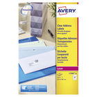 Avery Clear Laser Address Labels 63.5 x 38.1mm (Pack of 525) - L7560-25