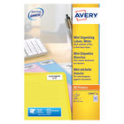 Avery Mini Slide White Labels, 46 x 11.1mm (Pack of 2100) - L7656-25