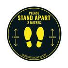 Social Distance Warning Floor Sticker 400mm Circular (Pack of 5) Socialstick01