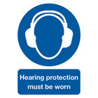 Hearing Protection Must Be Worn A4 PVC Safety Sign - MA01950R