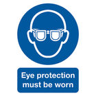 Eye Protection Must Be Worn A4 PVC Safety Sign - MA01250R
