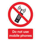 Do Not Use Mobile Phones A5 PVC Safety Sign - PH01051R