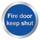 Safety 76mm Fire Door Keep Shut Sign - RDS15