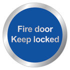 Safety 76mm Fire Door Keep Locked Sign - RDS14