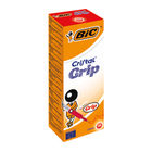 BIC Cristal Grip Medium Red Ballpoint Pens, Pack of 20 - 802803