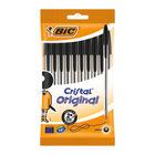 BIC Black Medium Cristal Ballpoint Pens, Pack of 10 - 830864