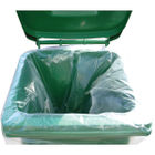 2Work Clear Wheelie Bin Liners, Pack of 100 - CLWBL
