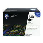 HP 647A Black Laserjet Toner Cartridge | CE260A