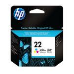 HP 22 Tri Colour Inkjet Cartridge 5ml | C9352AE
