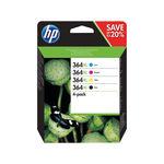 HP 364XL Black and Colour Combo Ink Cartridge 4 Pack   N9J74AE