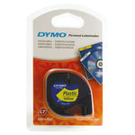 Dymo 12mm Yellow Letratag Tape 4m | 91202
