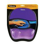 Fellowes Memory Foam Mouse Pad/Wrist Rest Purple