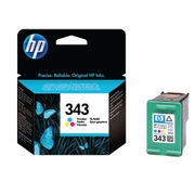 Image of HP 343 Tri Colour Inkjet Cartridge | C8766EE