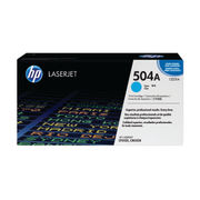 Image of HP 504A Cyan LaserJet Toner Cartridge | CE251A