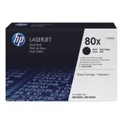 Image of HP 80X Black Laserjet Toner Cartridge Dual Pack   CF280XD
