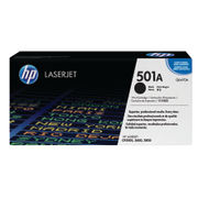 Image of HP 501A Black LaserJet Toner Cartridge | Q6470A