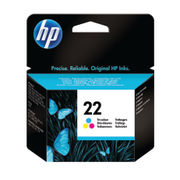 Image of HP 22 Tri Colour Inkjet Cartridge 5ml | C9352AE