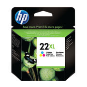 Image of HP 22XL Tri Colour Inkjet Cartridge High Capacity | C9352CE
