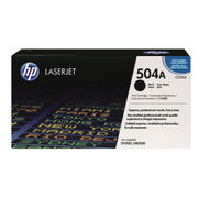Image of HP 504A Black LaserJet Toner Cartridge | CE250A