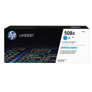Image of HP 508X Cyan Laserjet Toner Cartridge High Capacity | CF361X