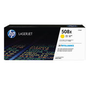 Image of HP 508X Yellow Laserjet Toner Cartridge High Capacity | CF362X