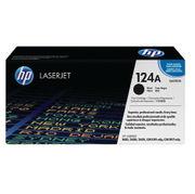 Image of HP 124A Black Laserjet Toner Cartridge | Q6000A